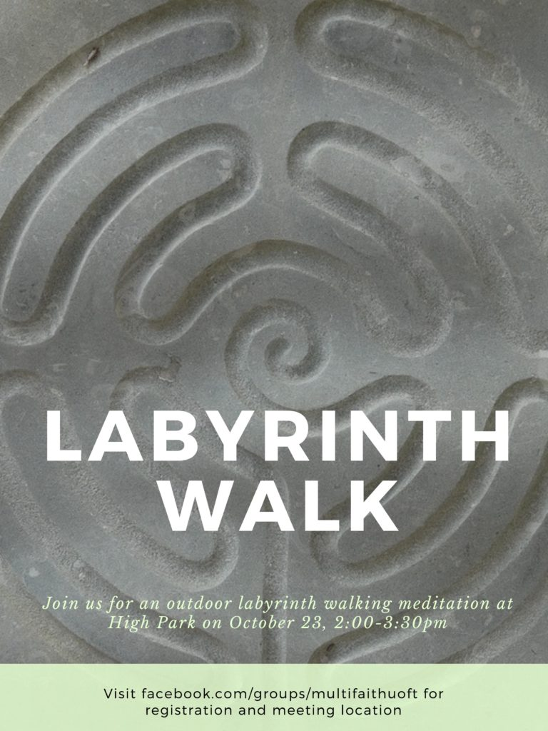 Labyrinth walk poster